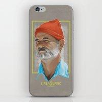 the life aquatic iPhone & iPod Skins featuring Steve Zissou Life Aquatic  by Soren Barton