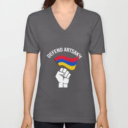 Flag Of Armenia - Defend Artsakh Unisex V-Neck