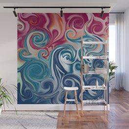Fluids spirals Wall Mural