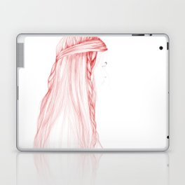 Red Hairstyle 1 Laptop & iPad Skin