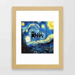 The Doctors Walking Of Starry Night Framed Art Print
