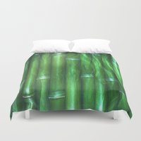 bamboo Duvet Covers featuring Bamboo by Digital-Art