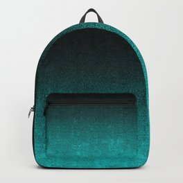 Aqua & Black Glitter Gradient Backpack