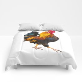 Fire Rooster. Symbol 2017 Comforters