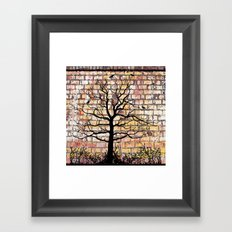 Graffiti Tree Framed Art Print