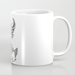 Fish handmade Drawing, Made in pencil, charcoal and ink, Tattoo Sketch, Tattoo Flash, Carp Koi Coffee Mug
