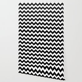BLACK AND WHITE CHEVRON PATTERN Wallpaper