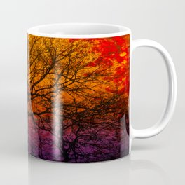 Ever After, Trees Silhouette Sunset Coffee Mug