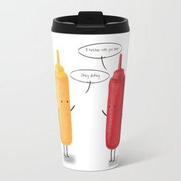 Mustard & Ketchup. Travel Mug