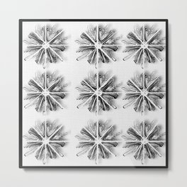 Snow Flakes quilling flower  Metal Print
