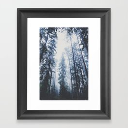 The mighty pines Framed Art Print