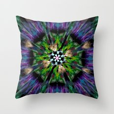 Internal Kaleidoscopic Daze-8 Throw Pillow