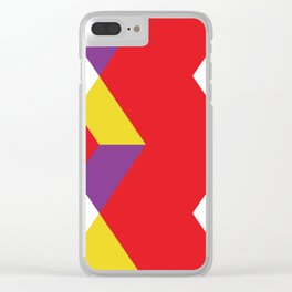 Mountains, or waves, or letters M, or polygons... all in a red carpet. Clear iPhone Case