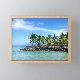 Bora Bora Palm Trees Framed Mini Art Print