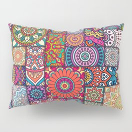 Boho Patchwork Quilt Pattern 2 Pillow Sham