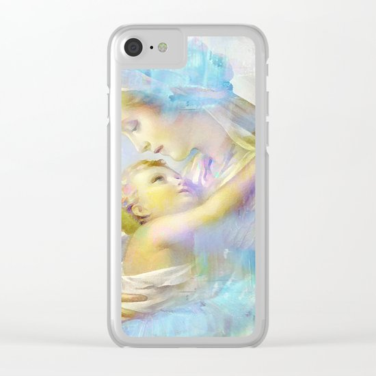 In the Arms of Mary Clear iPhone Case