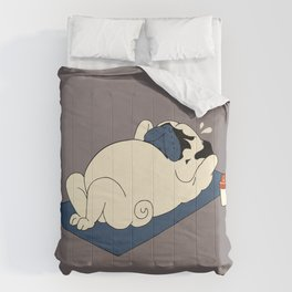 Pug Ab Crunches Comforters