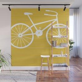 Yellow Bike by Friztin Wall Mural