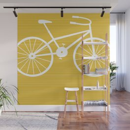 Yellow Bike by Friztin Wall Mural