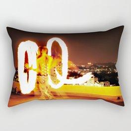 Man on Fire Rectangular Pillow