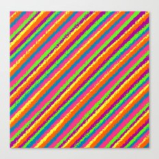Crazy Colorz Canvas Print