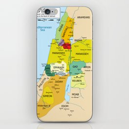 Map of Twelve Tribes of Israel from 1200 to 1050 According to Book of Joshua iPhone Skin