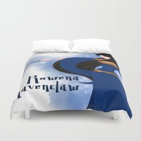 ravenclaw Duvet Covers featuring Rowena Ravenclaw by Hailey Del Rio