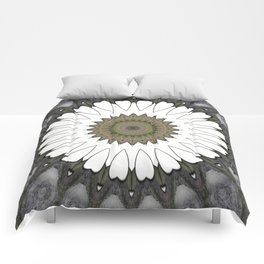Mandala of everyday love with hearts and Cupid arrows Comforters