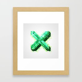 The Letter X Framed Art Print