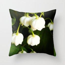 White Bells Throw Pillow