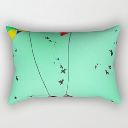 Flying Kites in May with May - shoes stories Rectangular Pillow