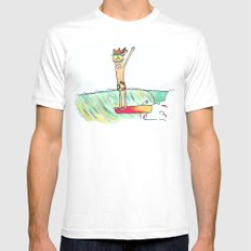 hang 10 surf dude Mens Fitted Tee MEDIUM White