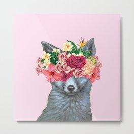 flowers fox Metal Print