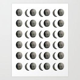 Watercolor Moons Art Print