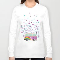 hippie Long Sleeve T-shirts featuring Hippie Land by Subcutaneo