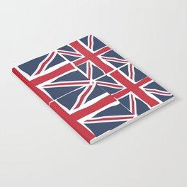 Union Jack flag pattern Notebook
