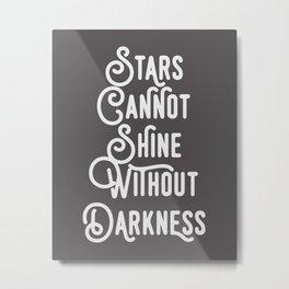 Stars Typography Print Metal Print