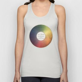Chevreul Cercle Chromatique, 1861 Remake, vintage wash Unisex Tank Top