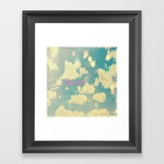 Good Framed Art Print