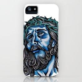 The Blue Jesus  iPhone Case
