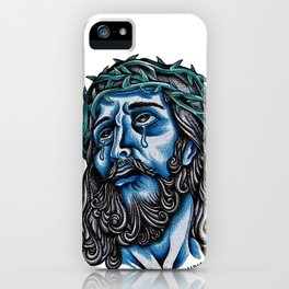 The Blue Jesus  iPhone Case