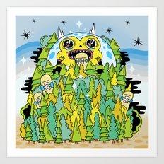 The Monster of Skate Forest Art Print