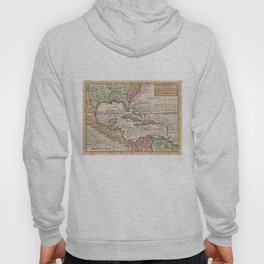 Vintage Map of the Caribbean (1732) Hoody