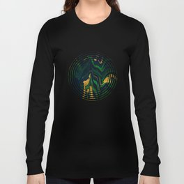 Rhapsody in Blue and Green and Gold Long Sleeve T-shirt