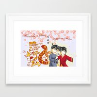 conan Framed Art Prints featuring Detective Conan by Black Wing