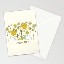 vitamin sea // mothers day // retro surf art by surfy birdy Stationery Cards