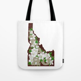 State Florals - Idaho Floral Watercolor - Neutral Tote Bag