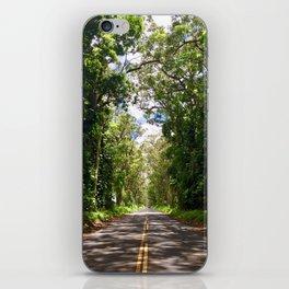 Tree Tunnel, Kauai, Hawaii iPhone Skin