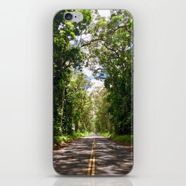 Tree Tunnel, Kauai, Hawaii iPhone Skin
