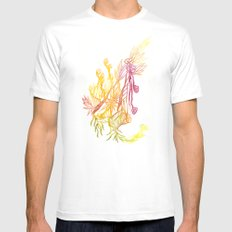 Winding Roots MEDIUM White Mens Fitted Tee